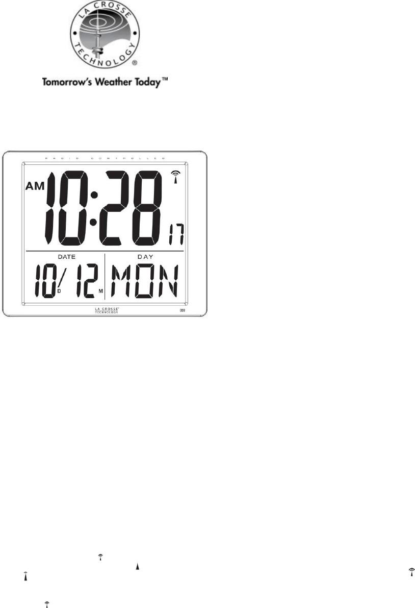 La Crosse Technology Clock 515-1316 User Guide