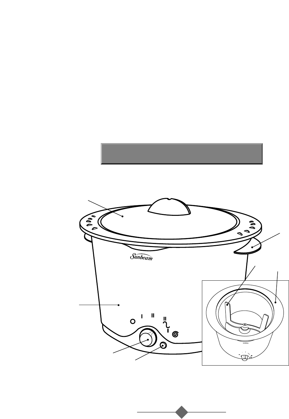 Page 3 of Sunbeam Slow Cooker 2692 User Guide