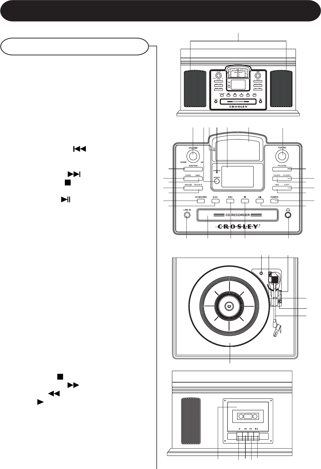 Page 6 of Crosley Radio Stereo System CR2405A User Guide