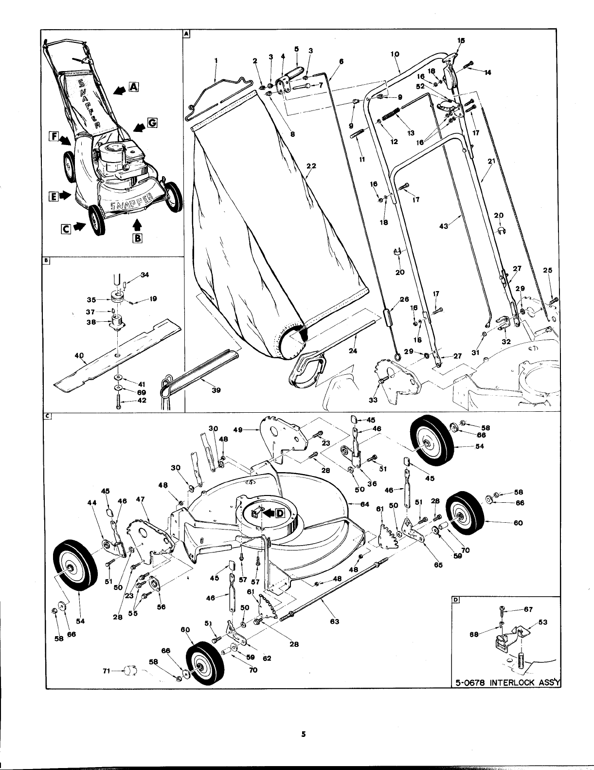 Page 5 of Snapper Lawn Mower V212P User Guide