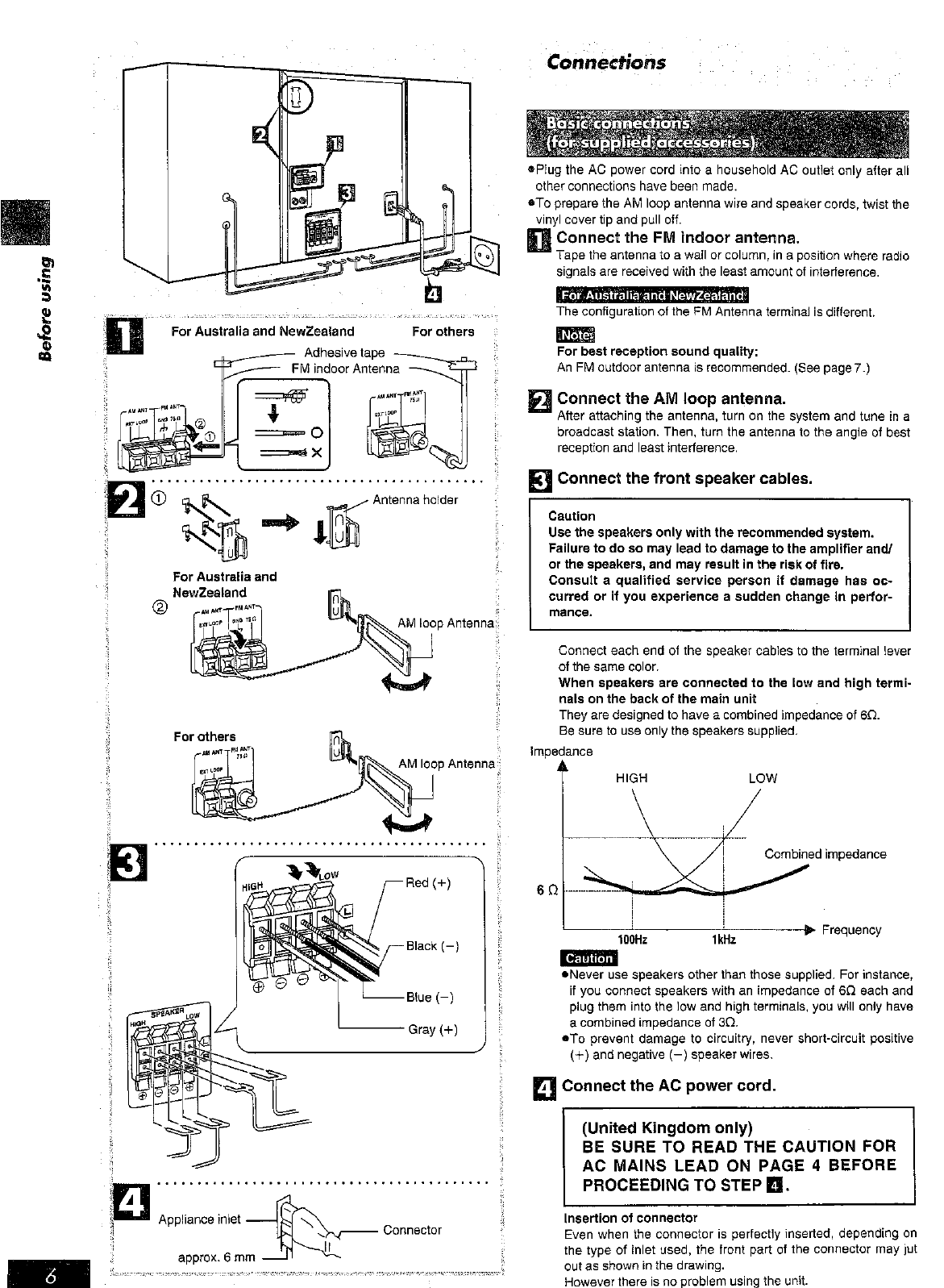 Page 6 of Panasonic Stereo System SC-AK45 User Guide