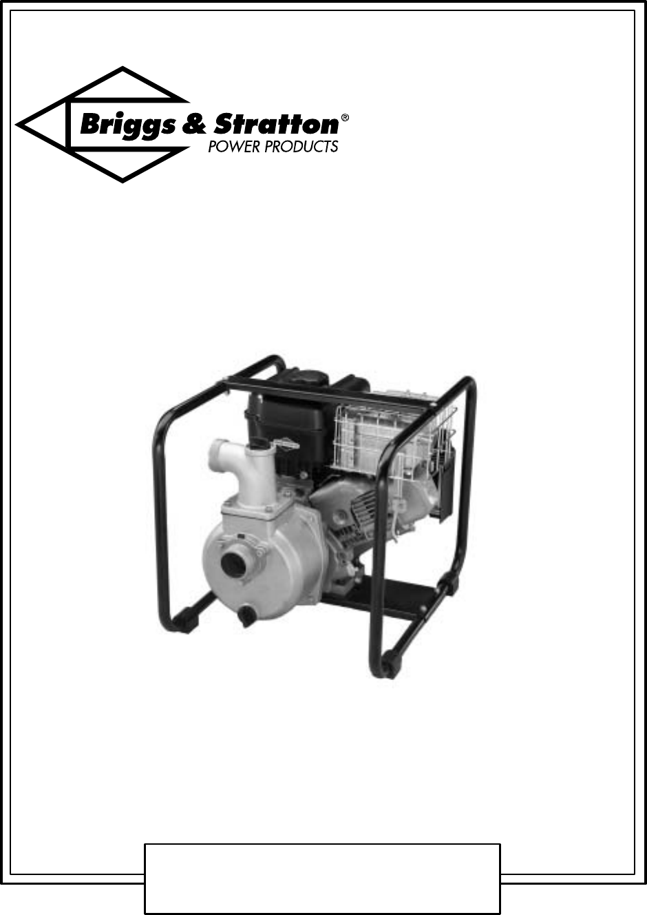 Briggs & Stratton Plumbing Product AC0201 User Guide