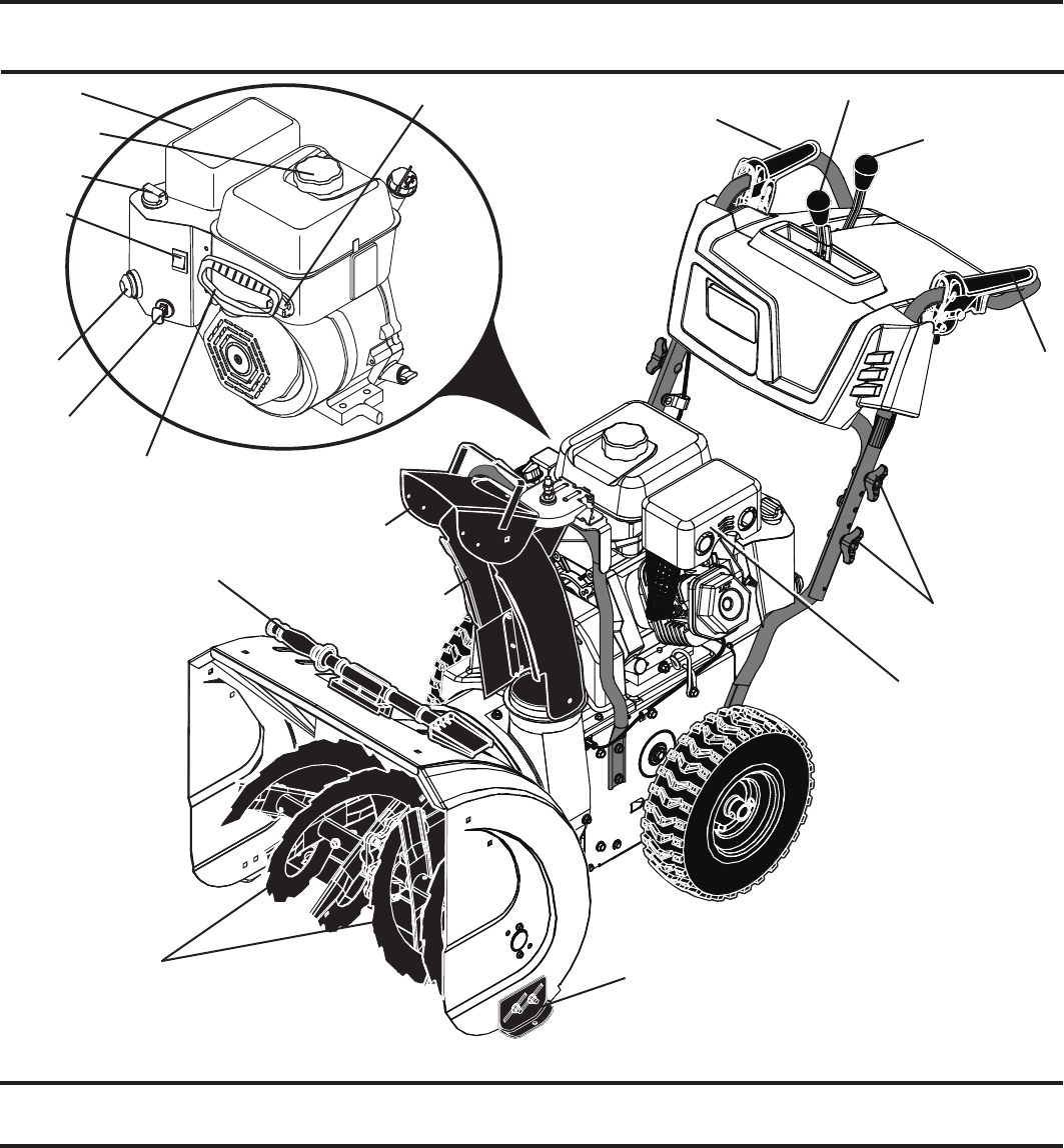 Page 8 of Poulan Pro Snow Blower PR240 User Guide