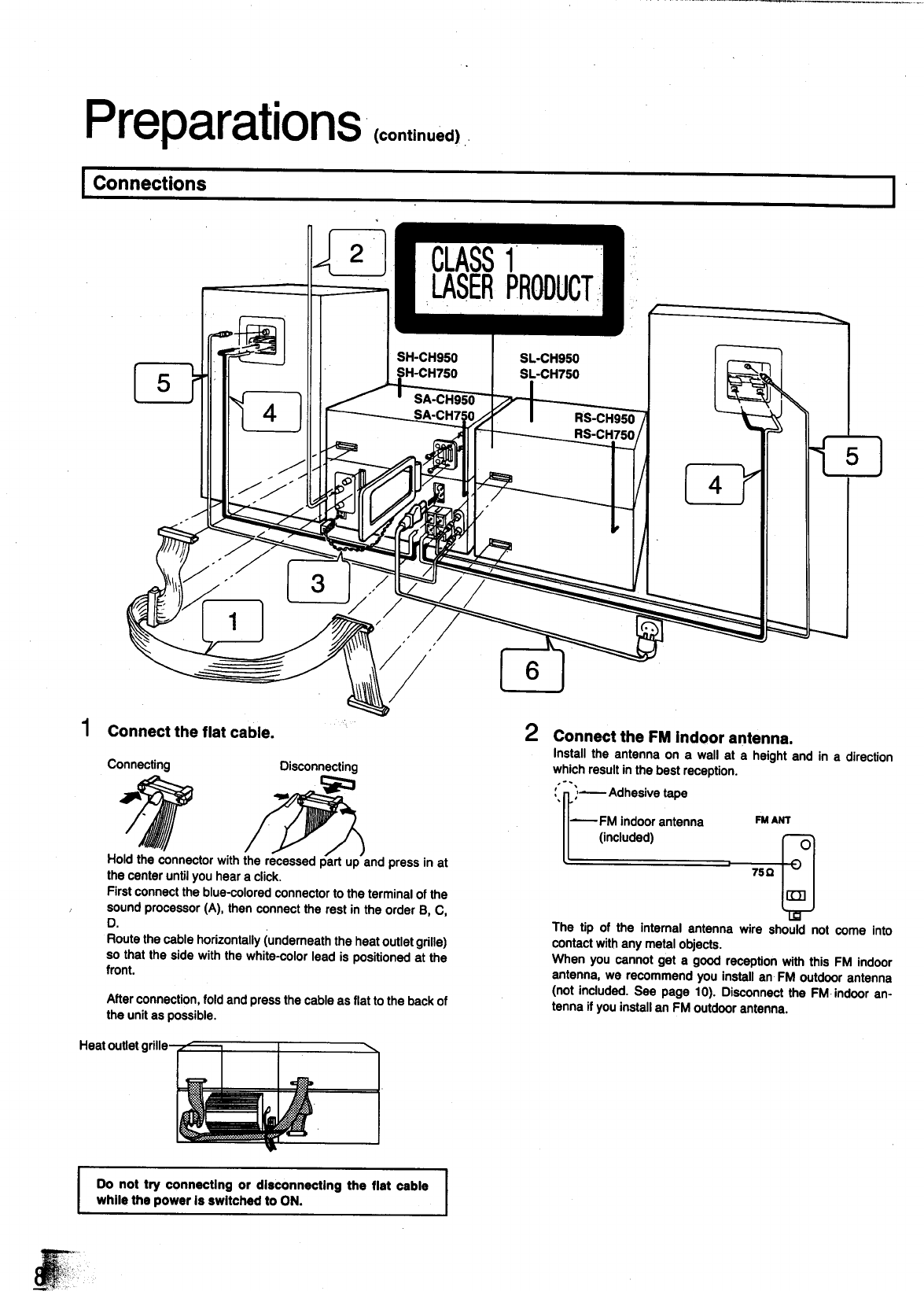 Page 8 of Panasonic Speaker System SC-CH950 User Guide