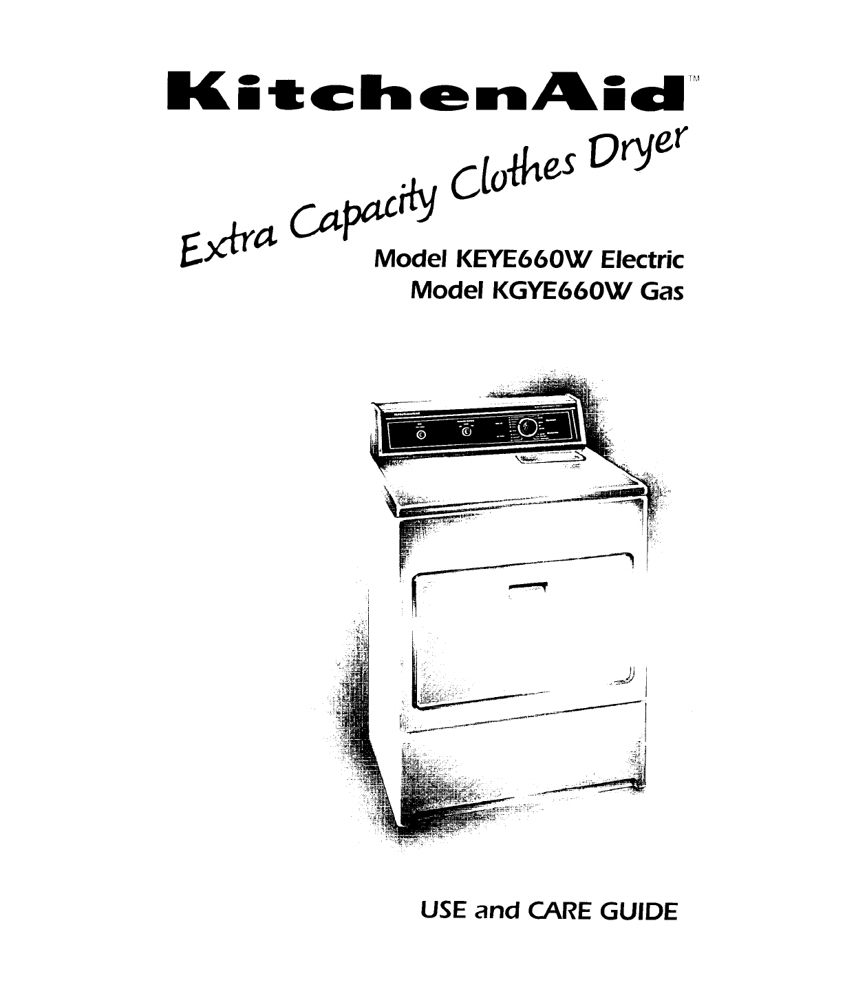 KitchenAid Clothes Dryer KEYE660W User Guide