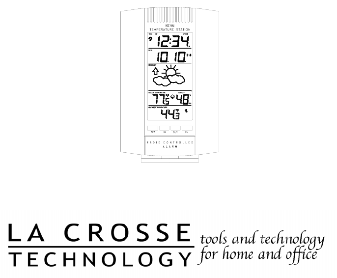 La Crosse Technology Clock WS-7075U User Guide