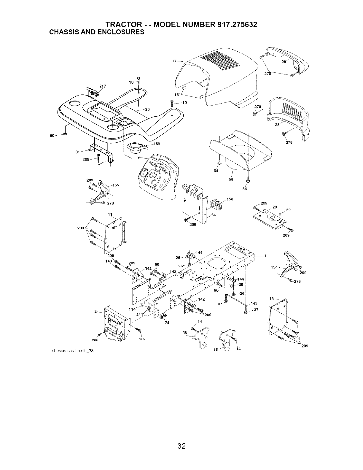Page 32 of Craftsman Lawn Mower 917.275632 User Guide