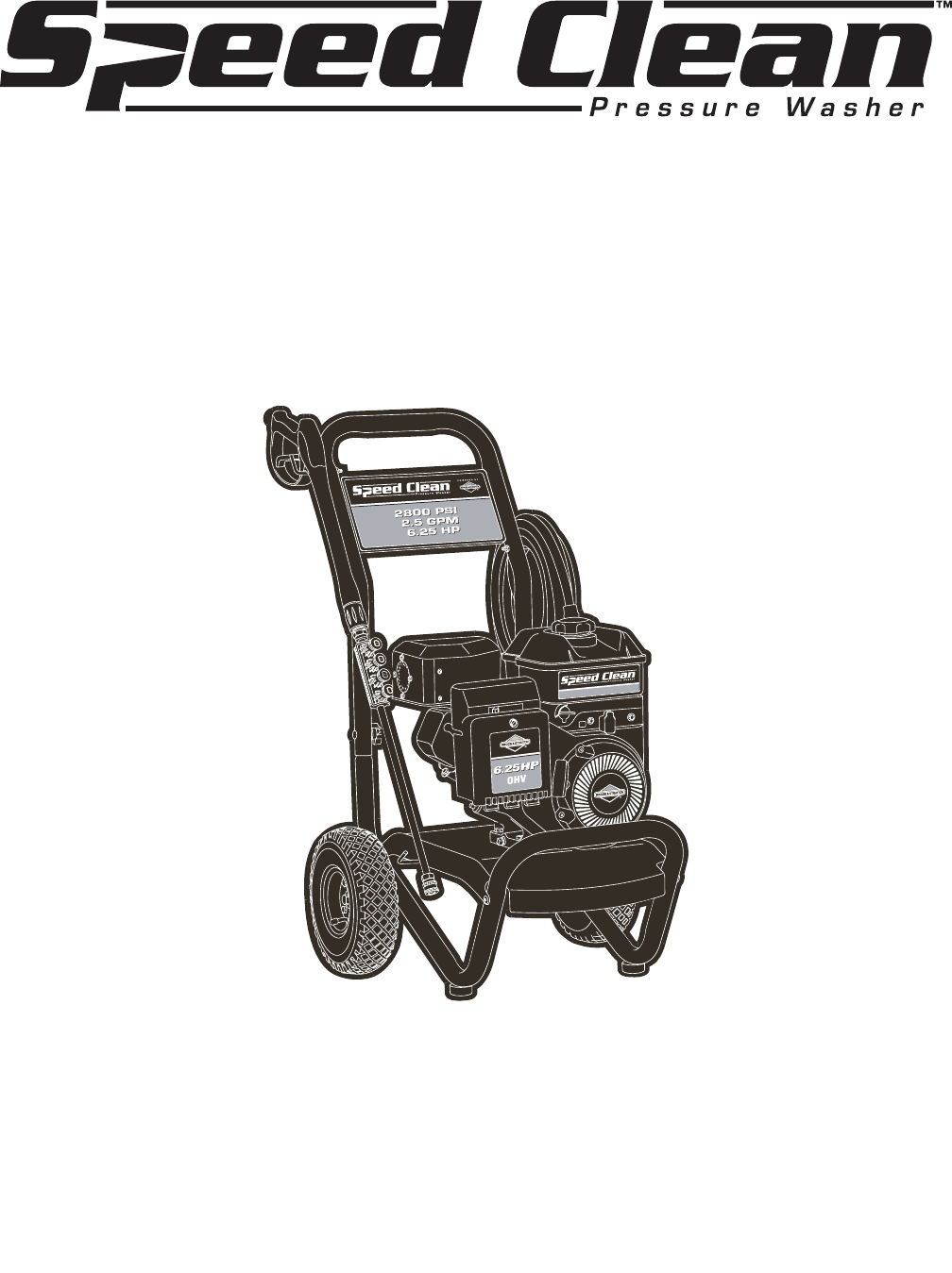 Briggs & Stratton Pressure Washer 020212-1 User Guide