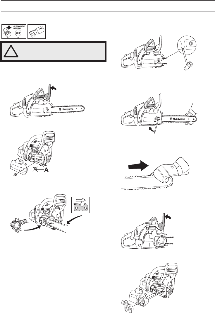 Page 17 of Husqvarna Chainsaw 445 User Guide