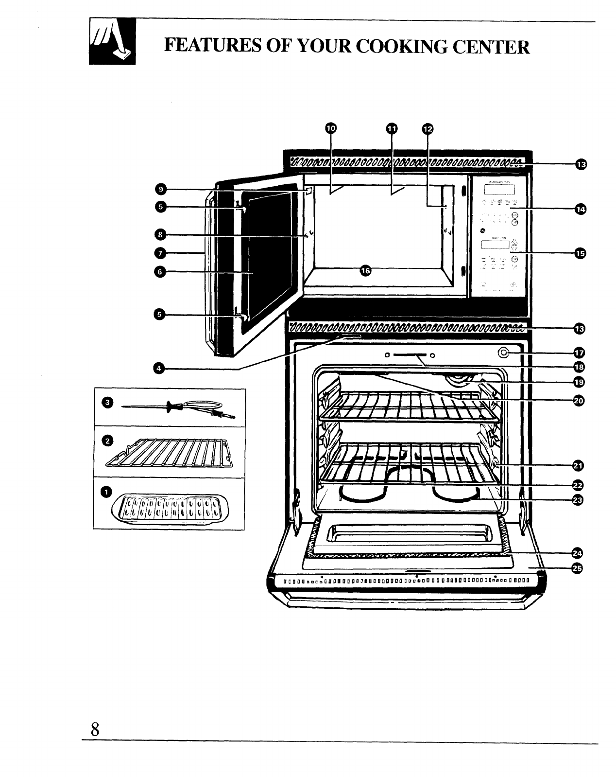 Page 8 of GE Microwave Oven 164D2966P127-I User Guide