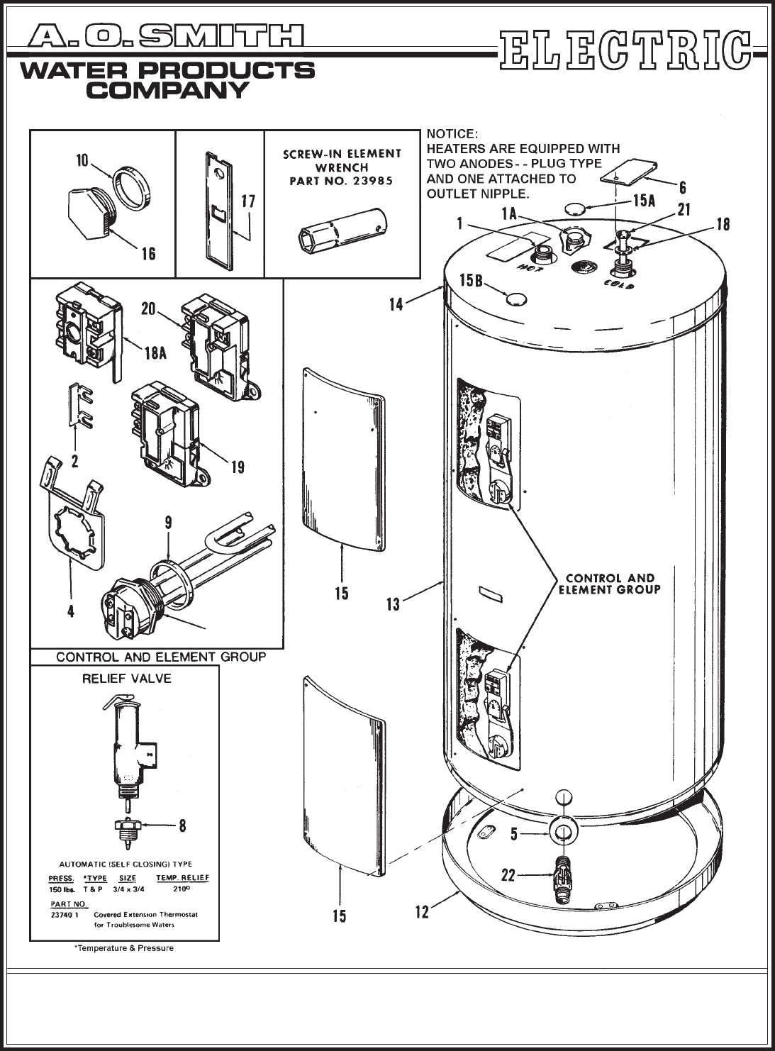 A.O. Smith Water Heater PEC/TE-80 User Guide
