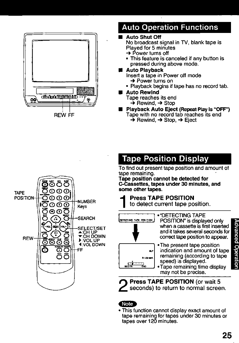 Page 25 of Panasonic TV VCR Combo PV C1321 User Guide