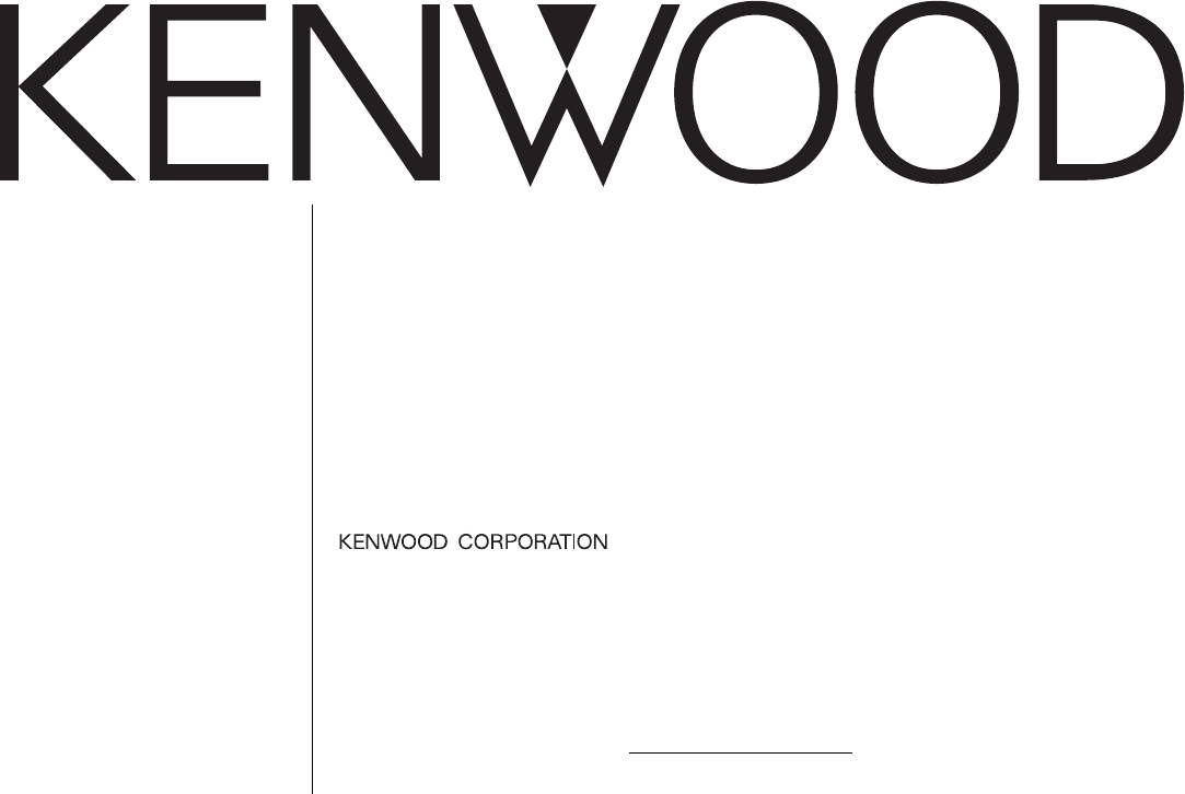Kenwood Car Stereo System KRC-335 User Guide