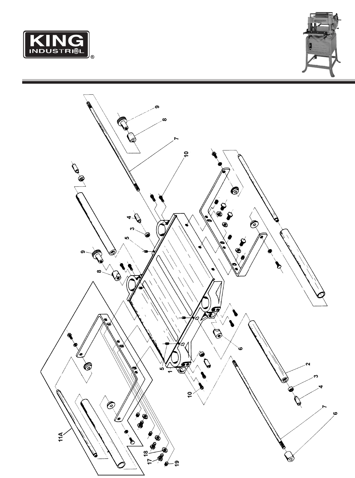 Page 2 of King Canada Planer CT-381 User Guide