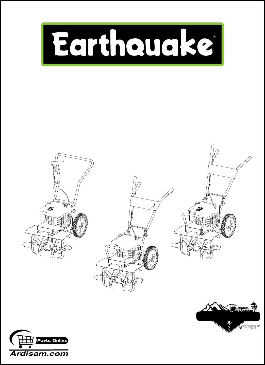Earthquake Sound Tiller ROTOTILLERS User Guide