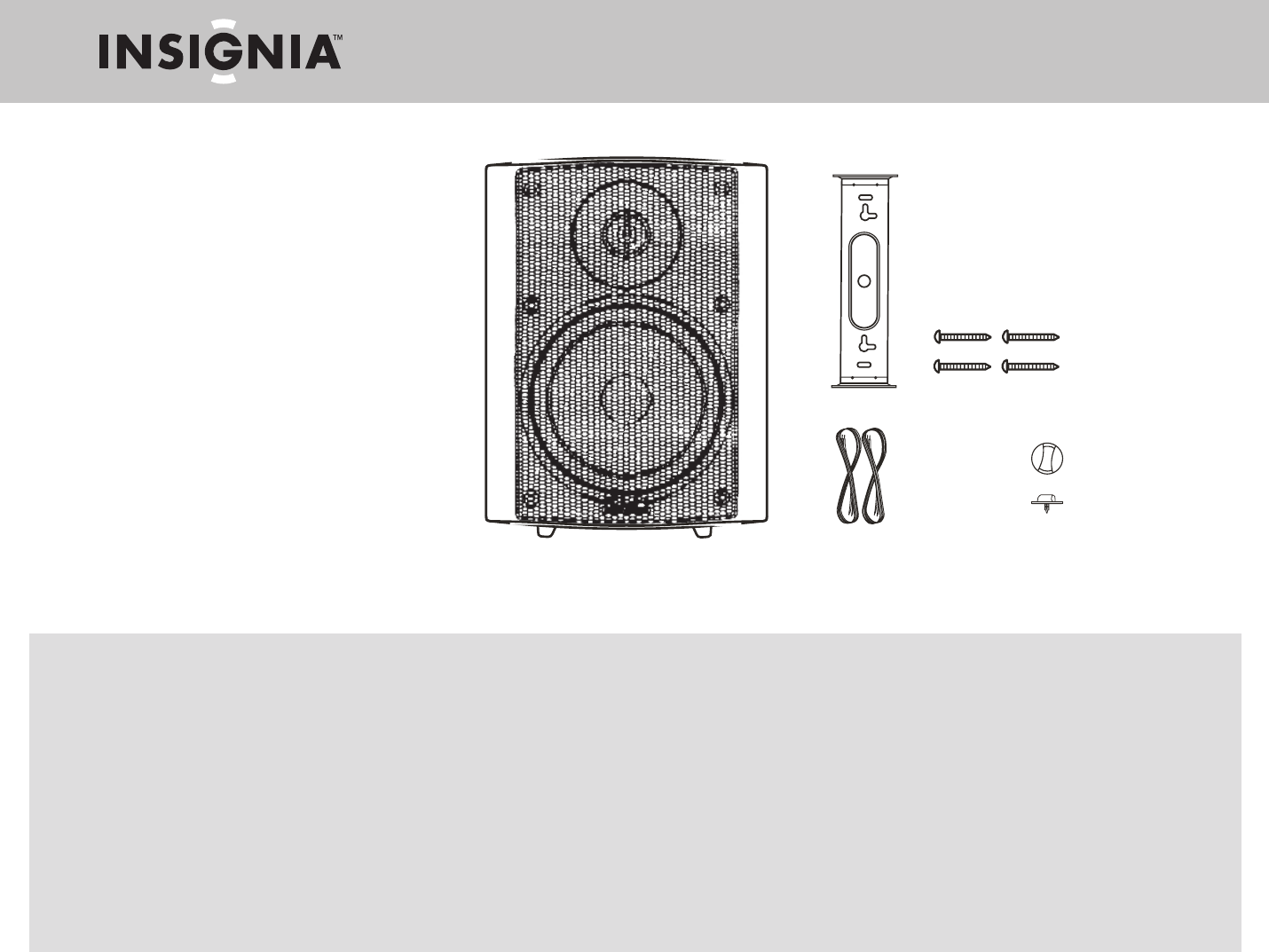 Insignia Portable Speaker NS-E2111 User Guide