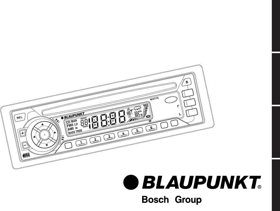 Blaupunkt Car Stereo System RPD 552 User Guide