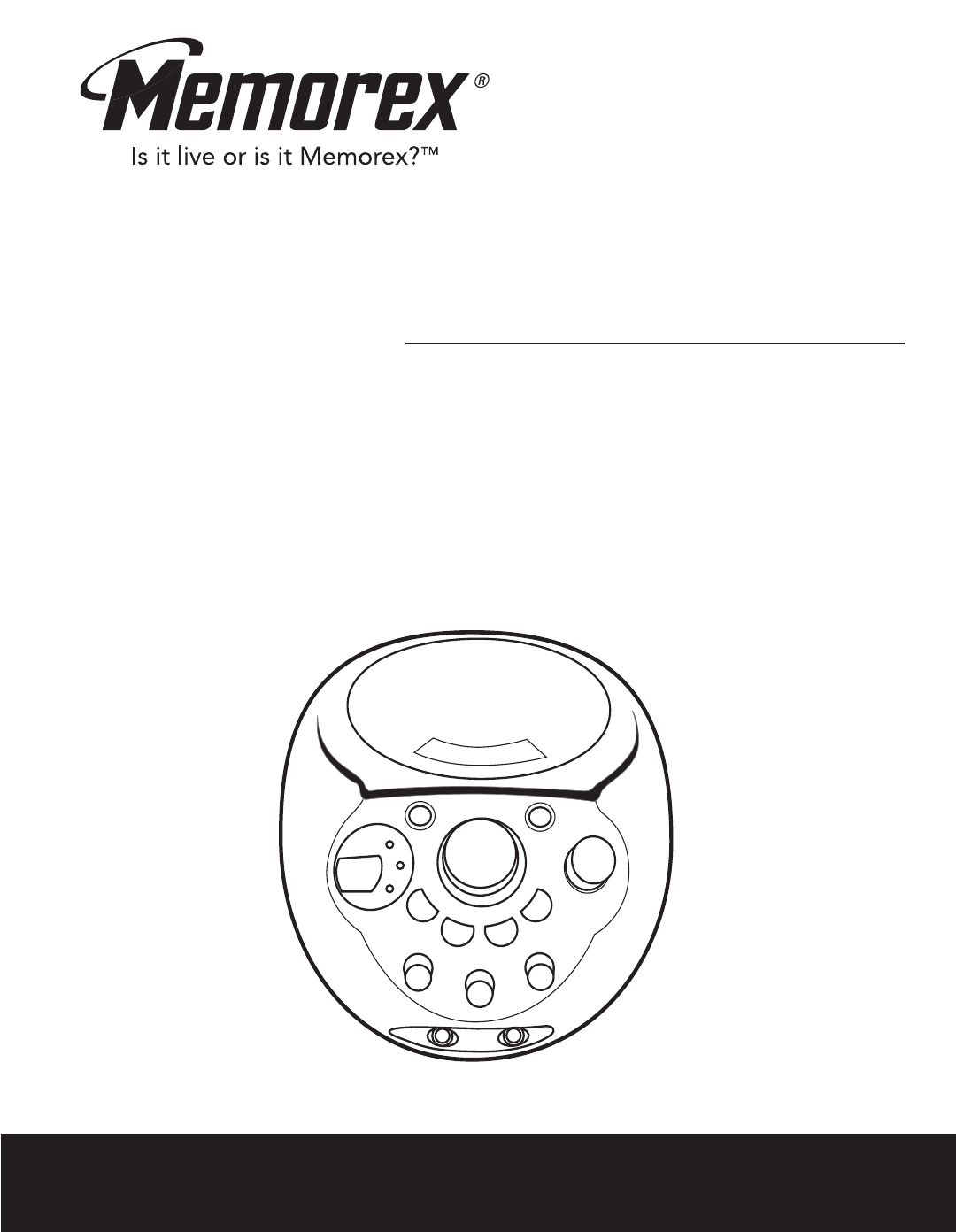 Memorex Portable CD Player MKS2116 User Guide
