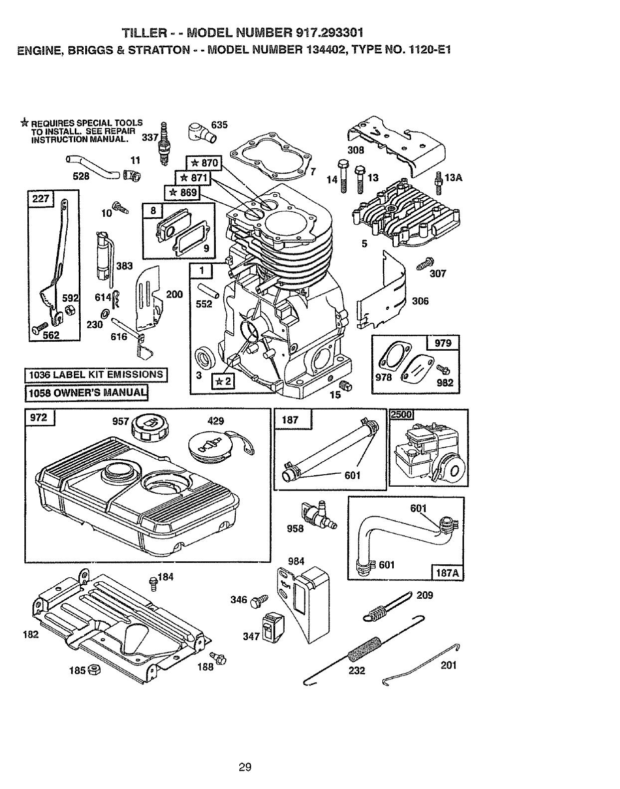 Page 29 of Craftsman Tiller 917.293301 User Guide