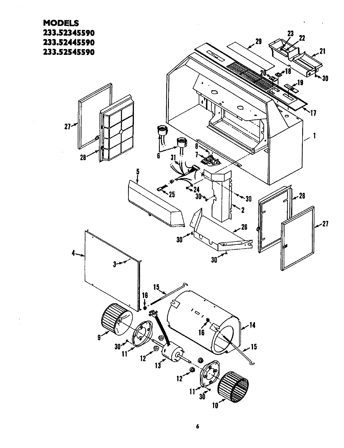 Page 2 of Kenmore Ventilation Hood 233.52345590 User Guide