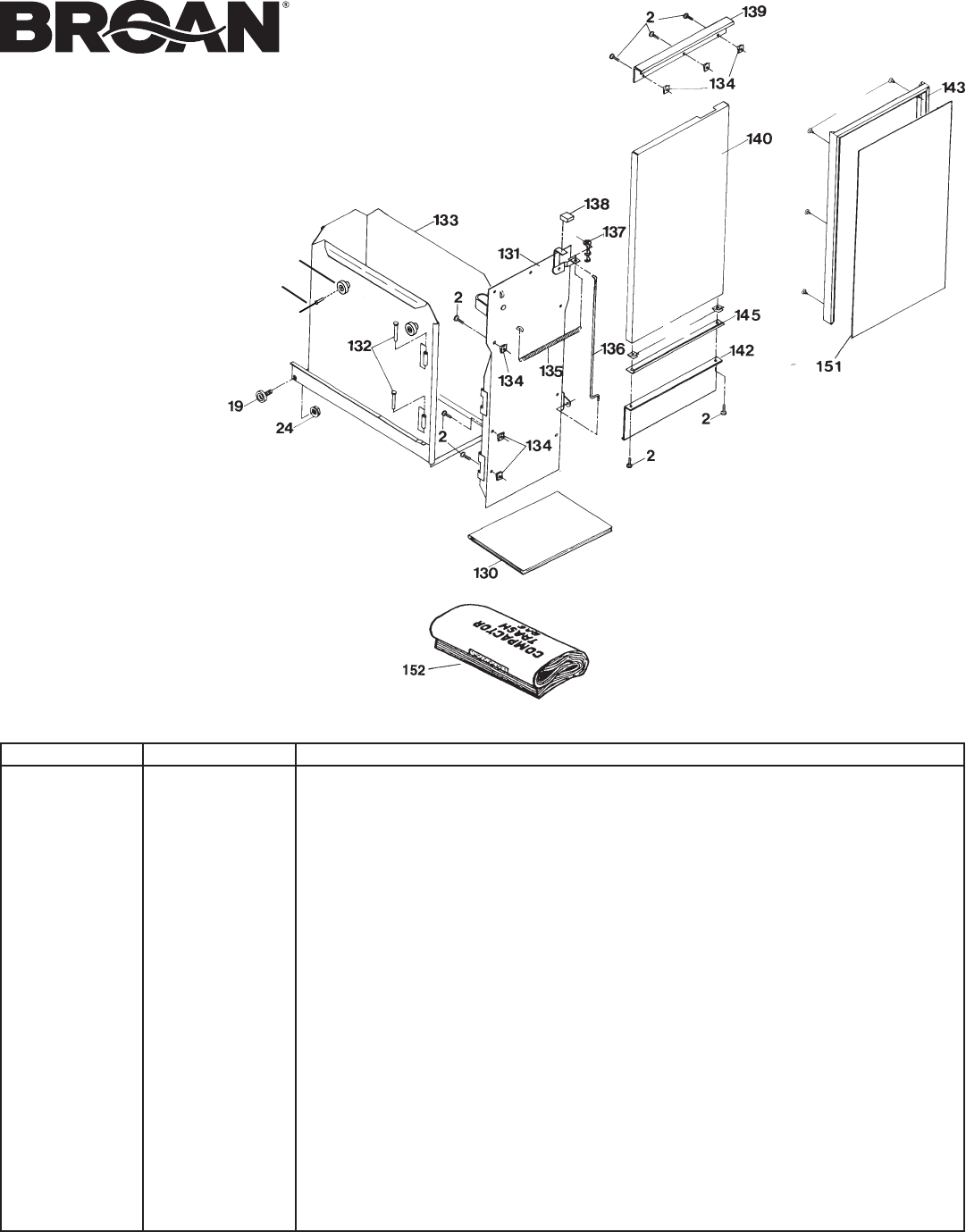 Page 12 of Broan Trash Compactor 1055-K User Guide