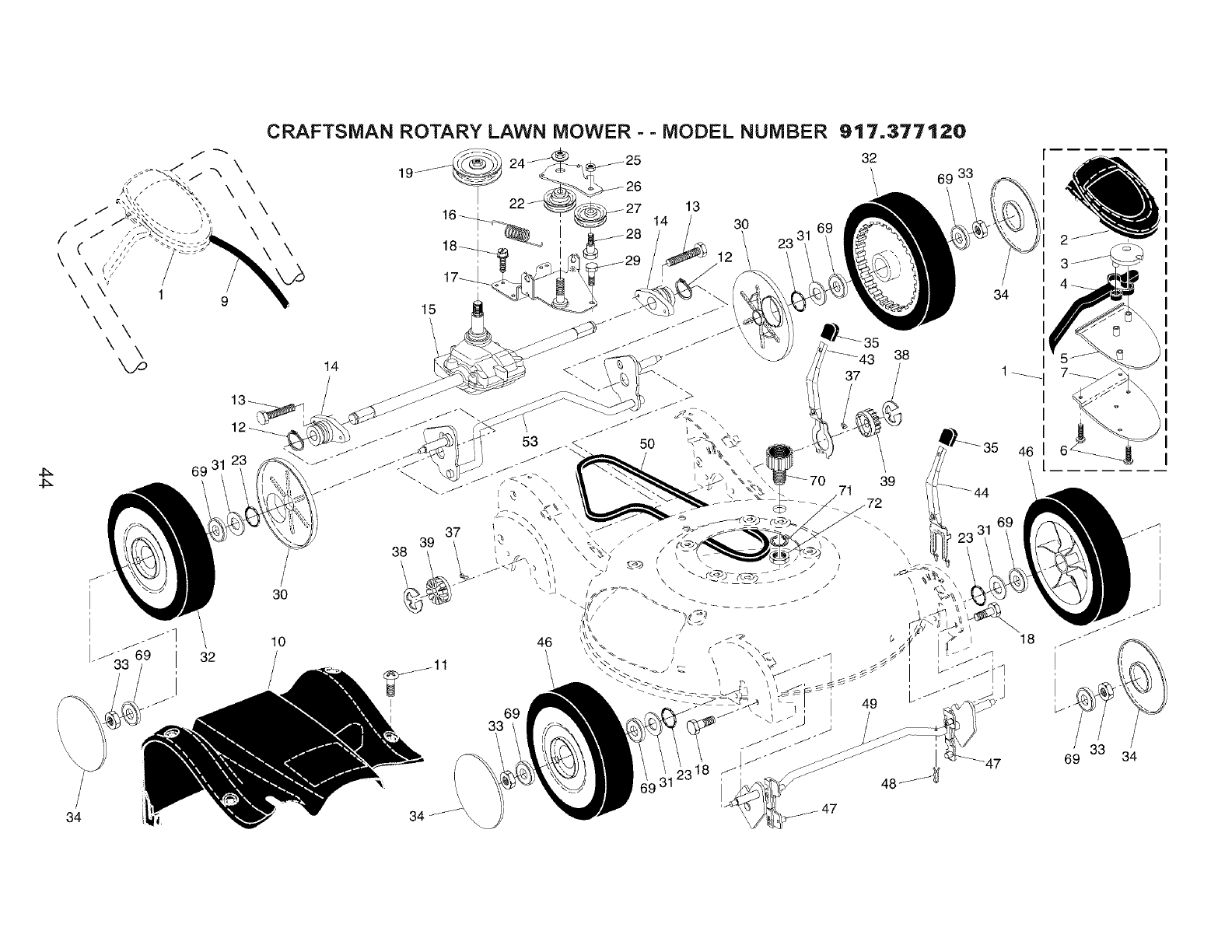 Page 44 of Craftsman Lawn Mower 917.37712 User Guide