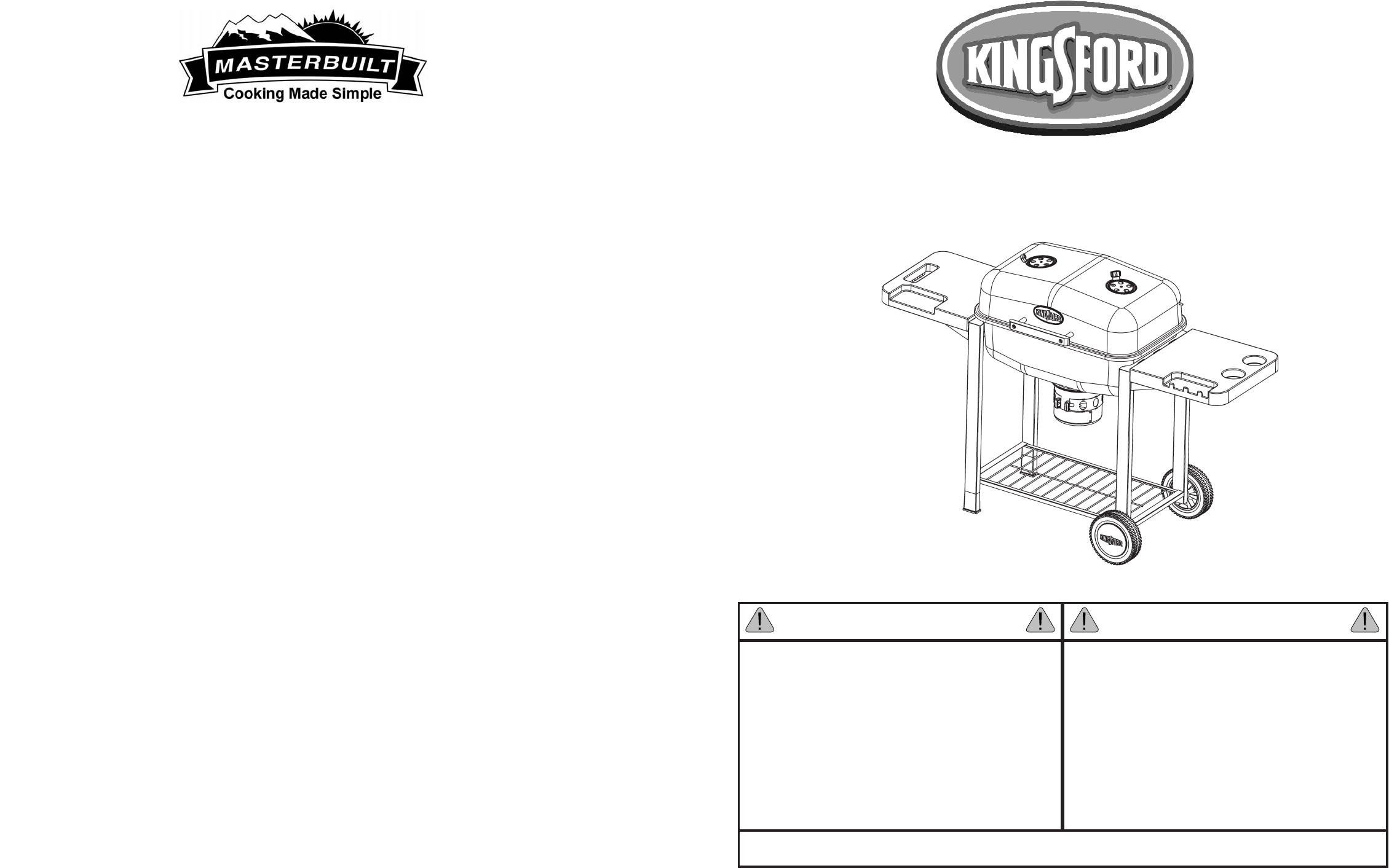 Kingsford Charcoal Grill 10040406 User Guide