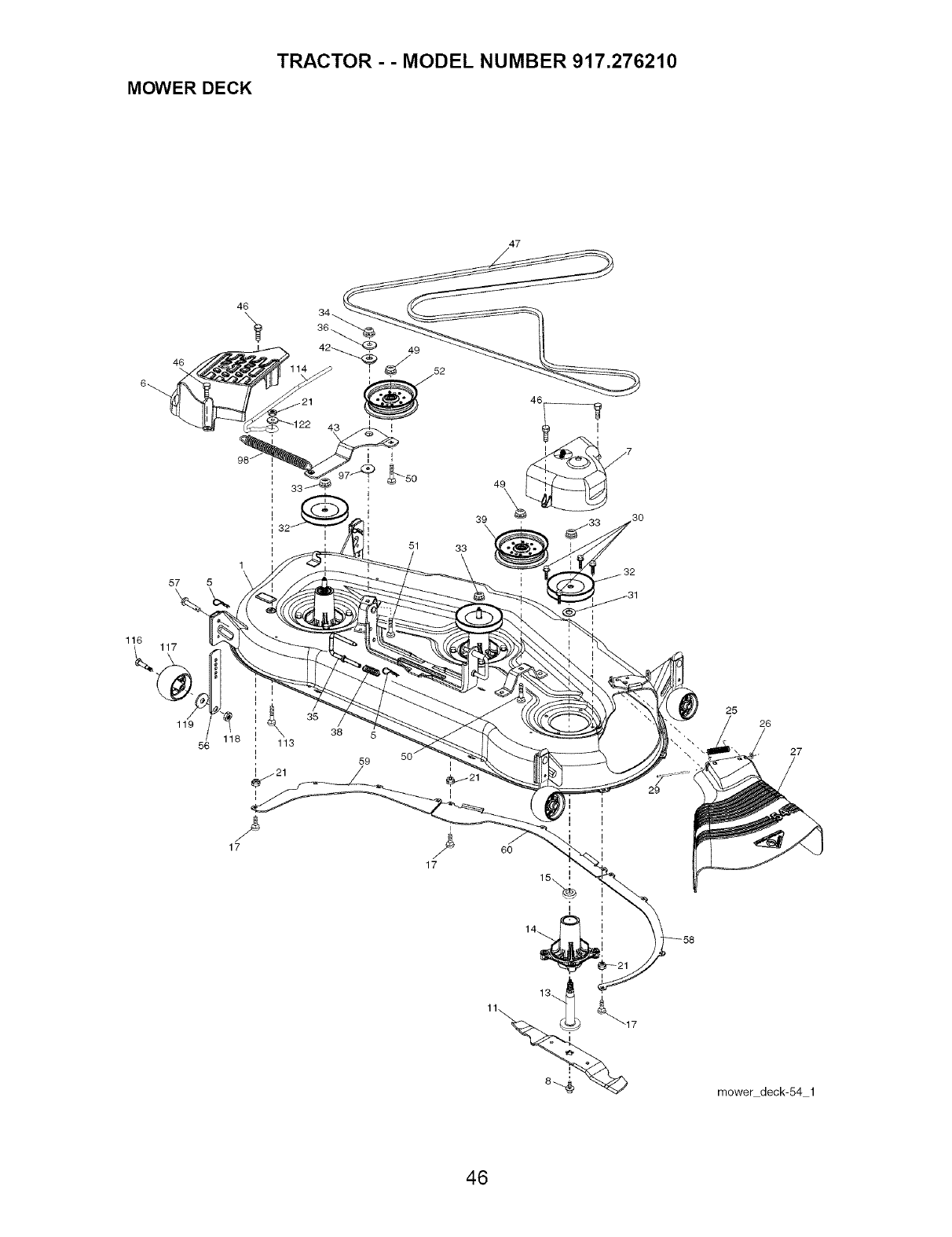 Page 46 of Craftsman Lawn Mower 917.27621 User Guide