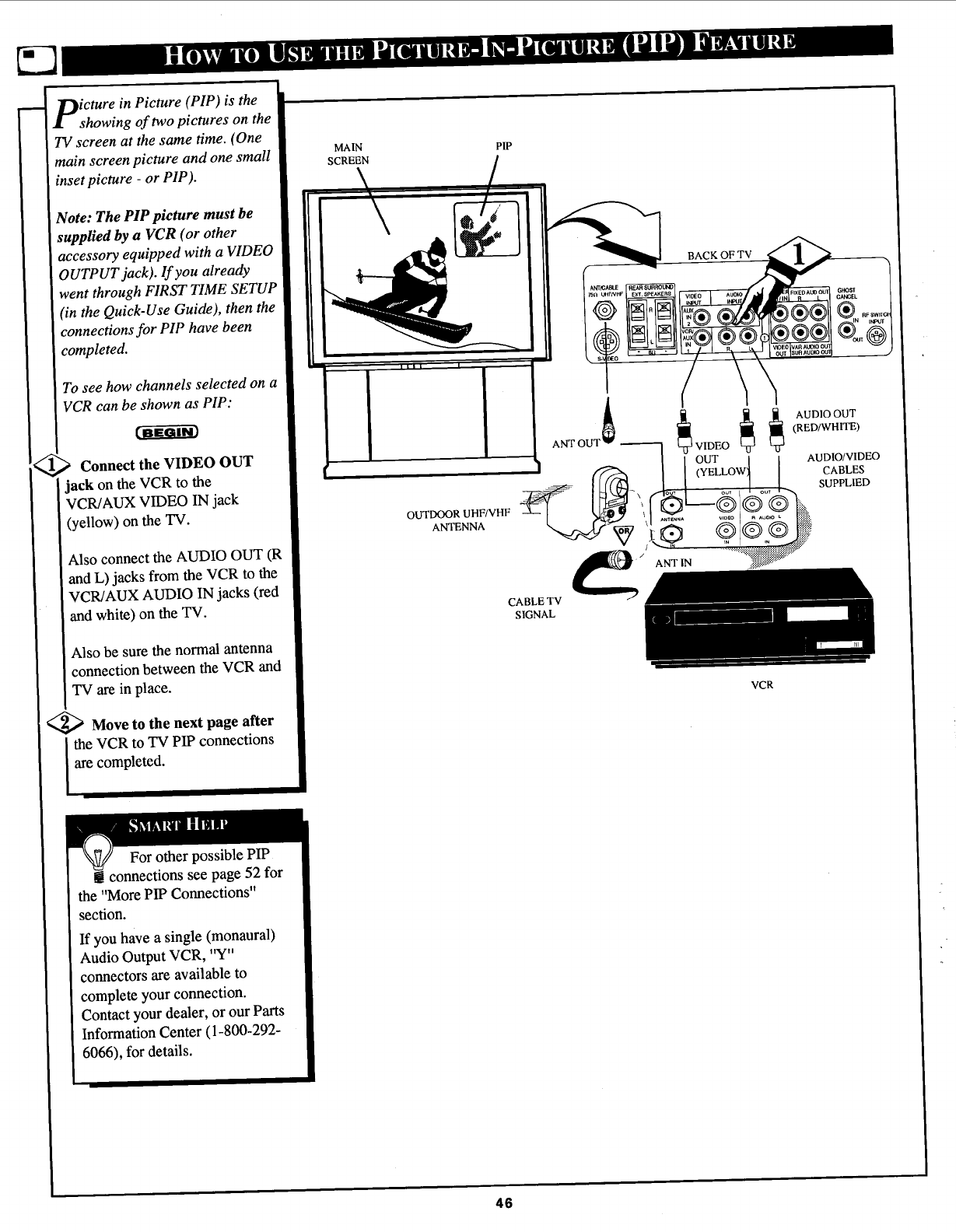 Page 46 of Magnavox Projection Television 6P5451C User