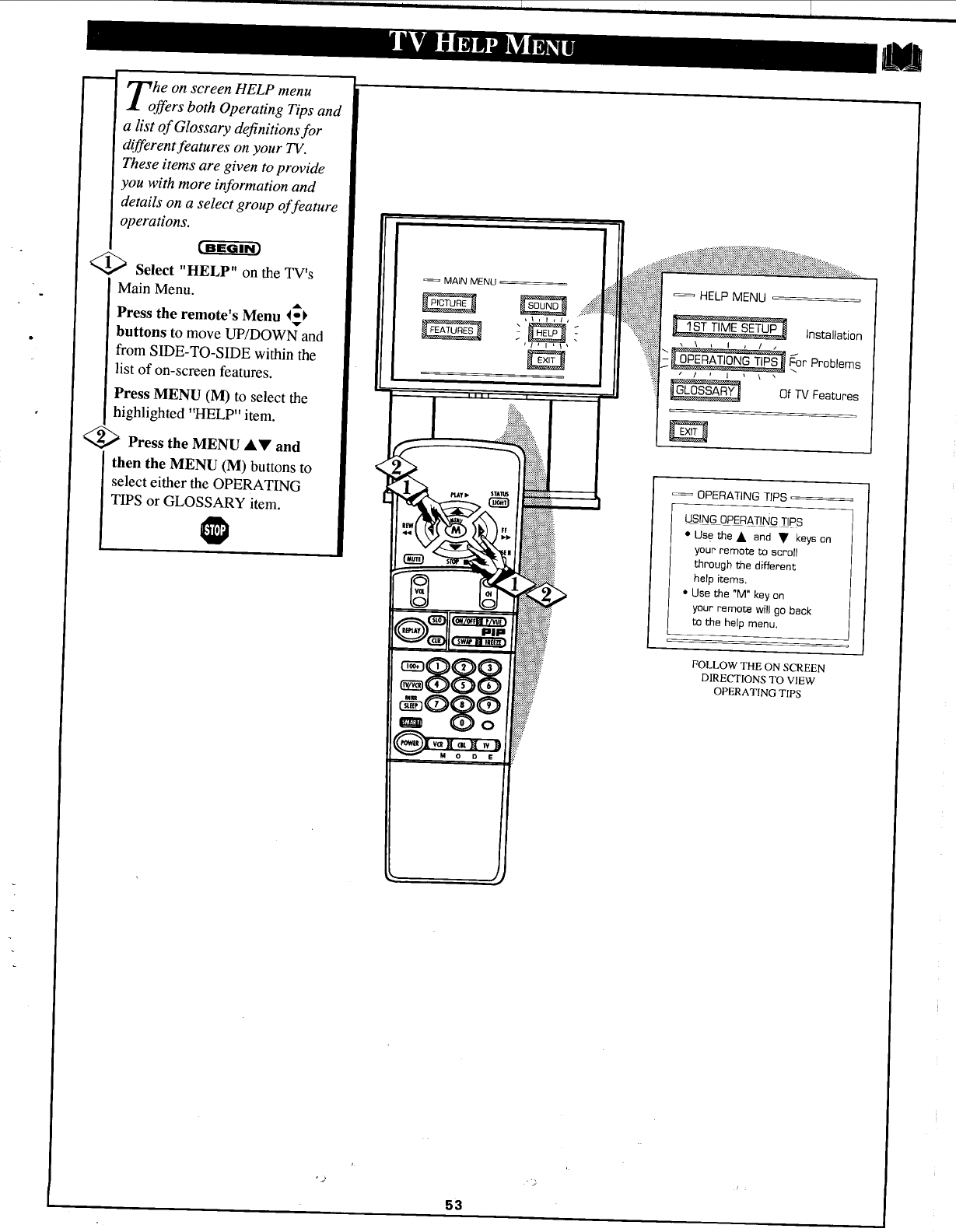 Page 53 of Magnavox Projection Television 6P5451C User