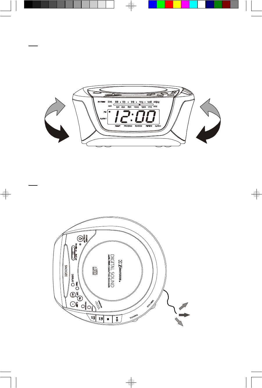 Page 13 of Emerson Stereo System CKD9906 User Guide
