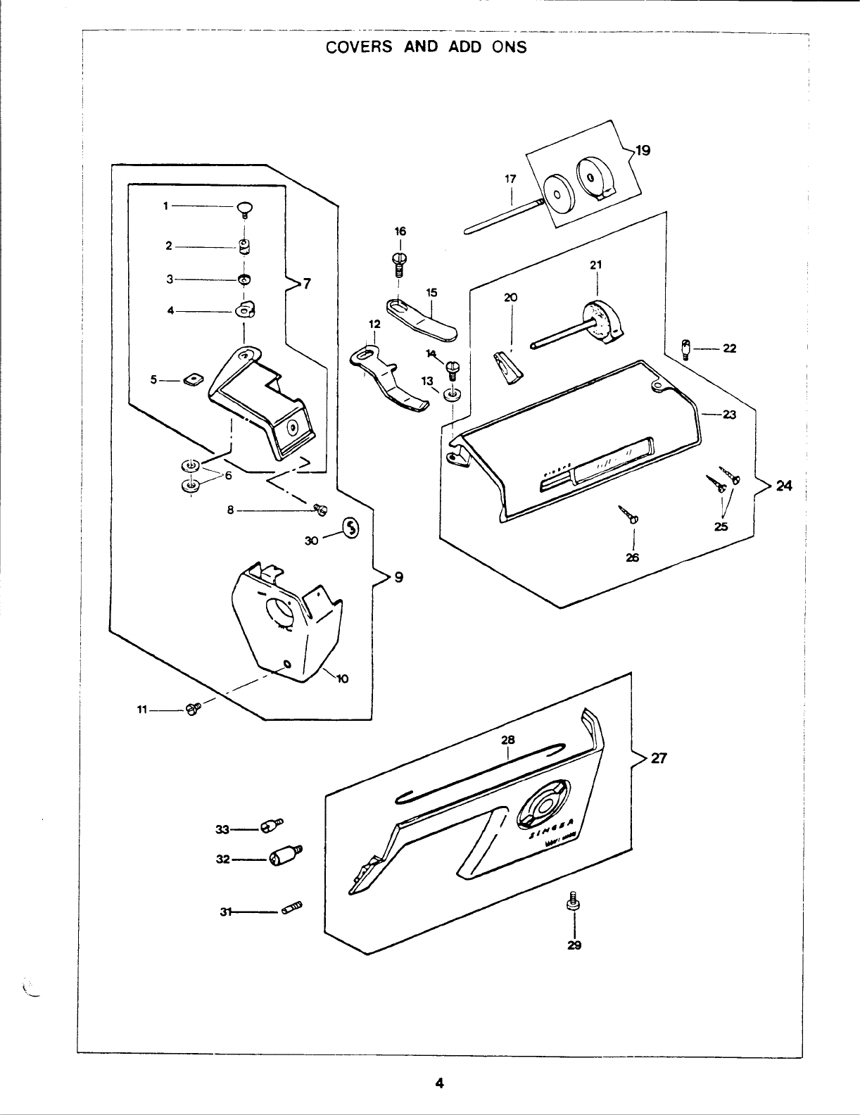 Page 7 of Singer Sewing Machine 1425 User Guide