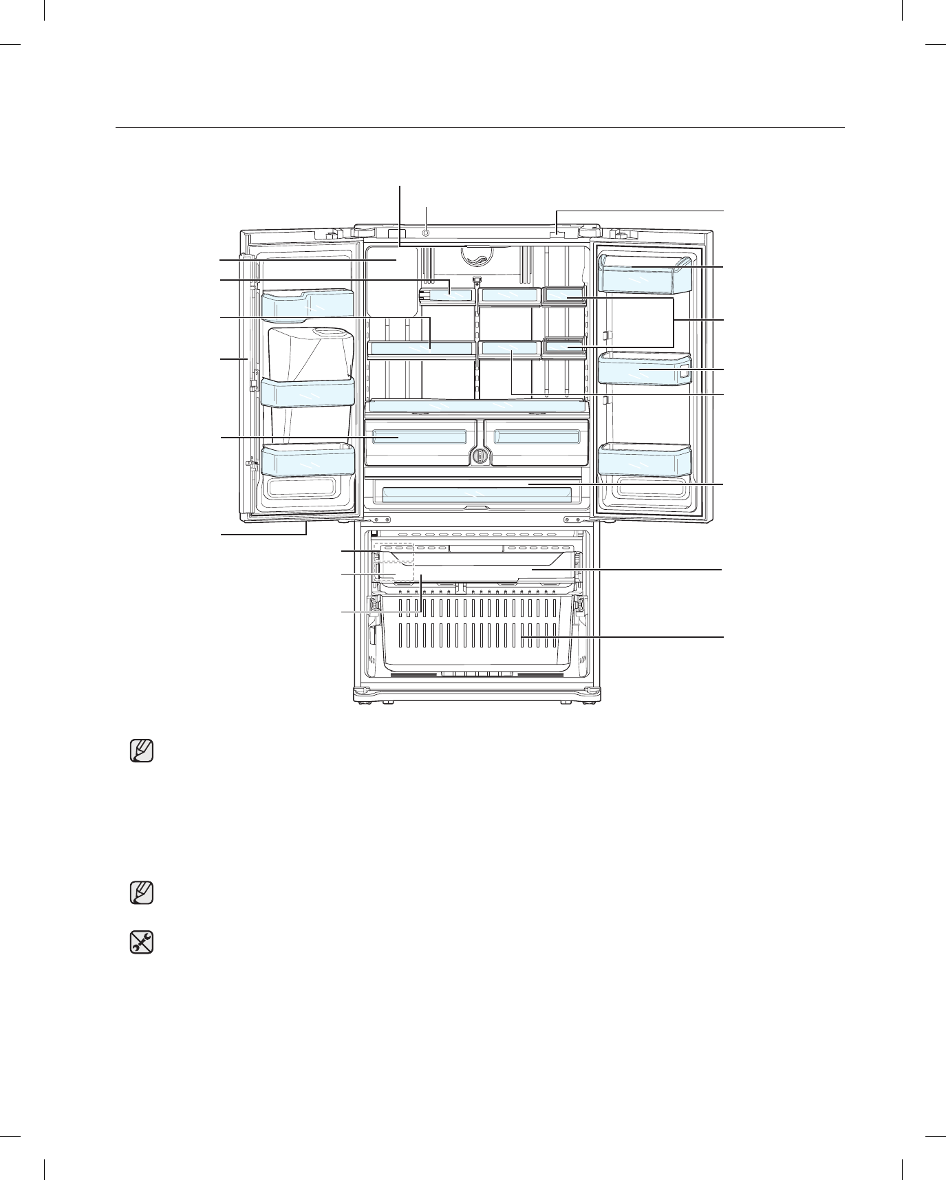 Page 16 of Samsung Refrigerator RFG29PHDRS User Guide