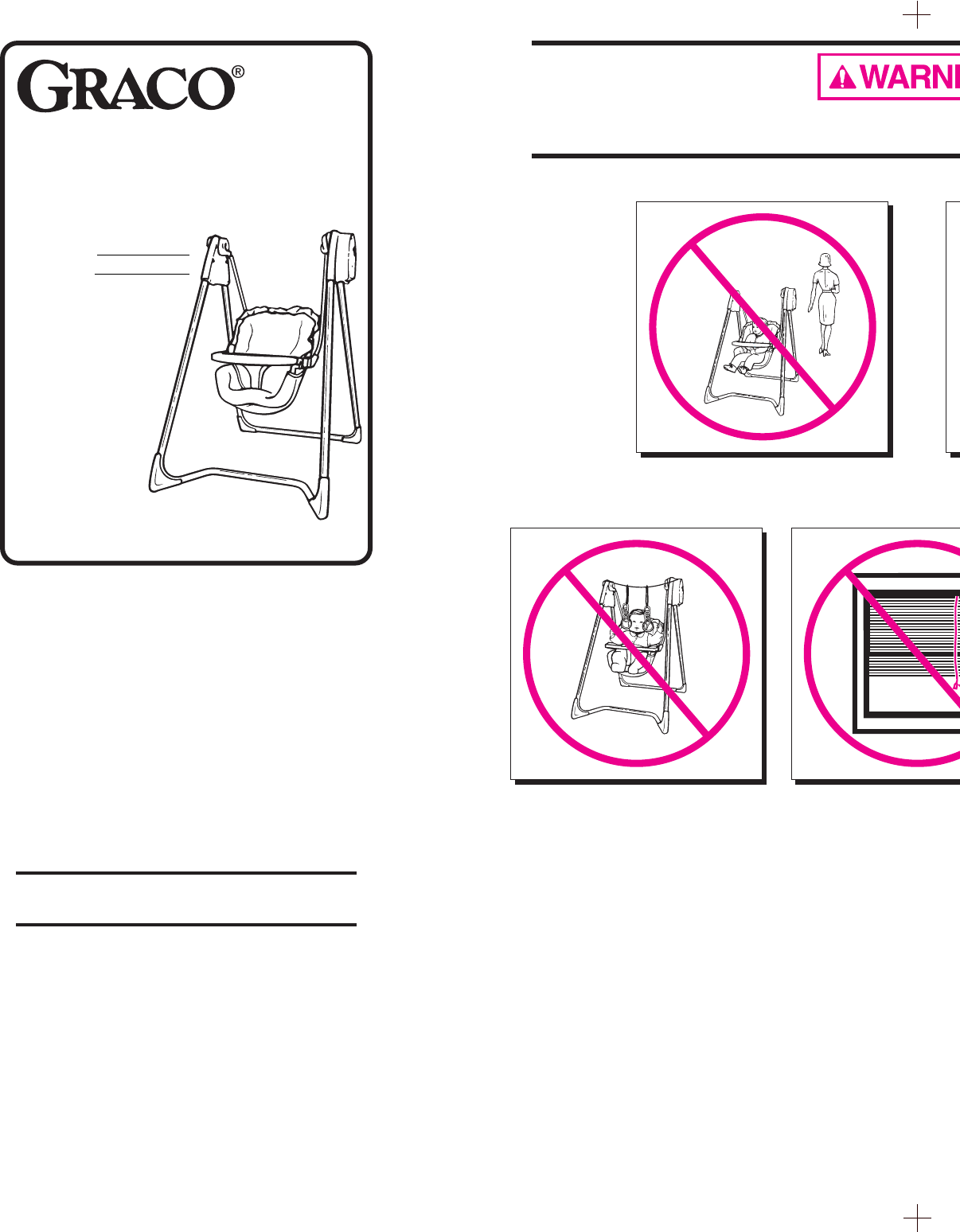 Graco Swing Sets 1434, 1444, 1452 User Guide