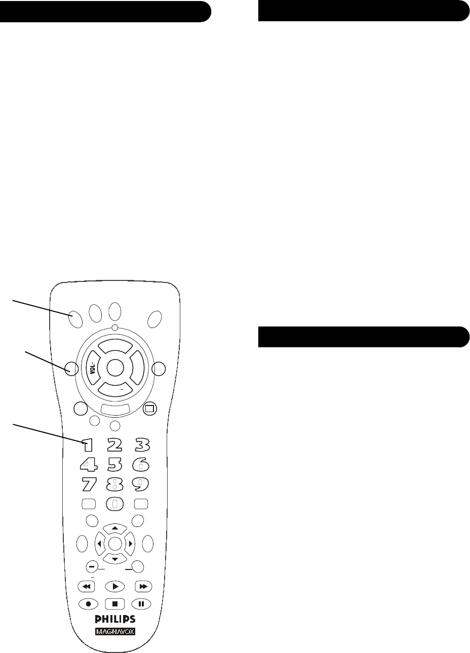 Page 7 of Philips Universal Remote PM435 User Guide