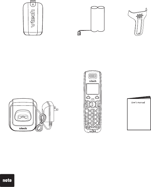 Page 4 of VTech Telephone DS6101 User Guide