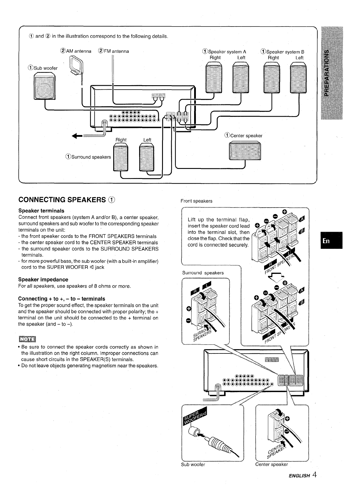 Page 5 of Aiwa Stereo System AV-D30 User Guide