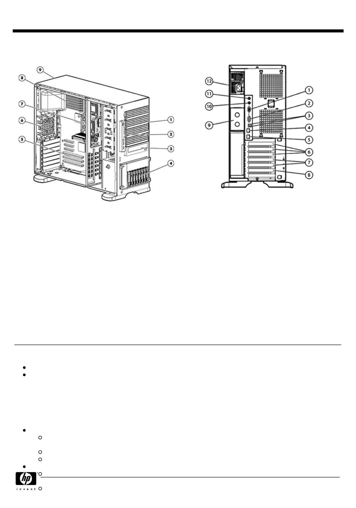 HP (Hewlett-Packard) Computer Hardware ML350 User Guide