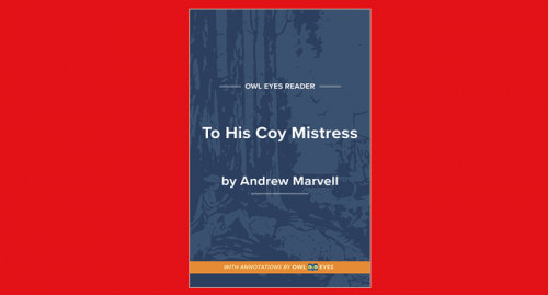 to his coy mistress pdf