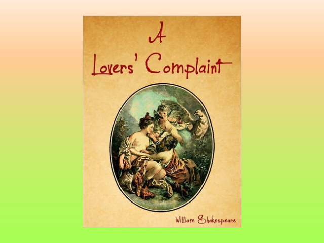 download a lovers complaint pdf by William Shakespeare