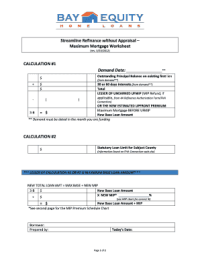 Fha Streamline Worksheet. Worksheets. Ratchasima Printable ...