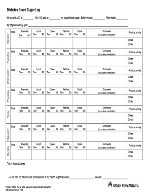 Printable A1c Chart : printable, chart, Printable, Chart, Forms, Templates, Fillable, Samples, Download, PDFfiller