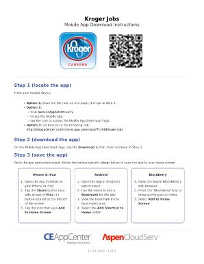 Kroger Application Pdf : kroger, application, Kroger, Online, Application, Online,, Printable,, Fillable,, Blank, PdfFiller