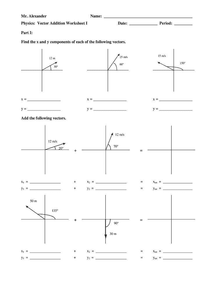 Vector Addition - Vectors | Vector Components | Equations