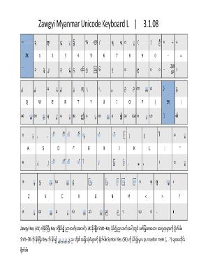 Alfazawgyi : alfazawgyi, Alpha, Zawgyi, Unicode, Keyboard, Online,, Printable,, Fillable,, Blank, PdfFiller