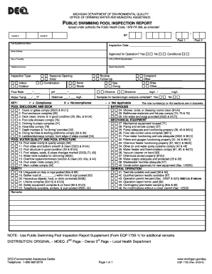 Swimming Pool Inspection Report  Fill Online, Printable