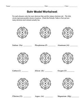 Bohr Model Worksheet Answers : model, worksheet, answers, Model, Worksheet, Online,, Printable,, Fillable,, Blank, PdfFiller