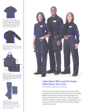 Fedex Uniform Catalog : fedex, uniform, catalog, Fillable, Online, FedEx, Kinko's, Office, Print, Center, Email, PdfFiller
