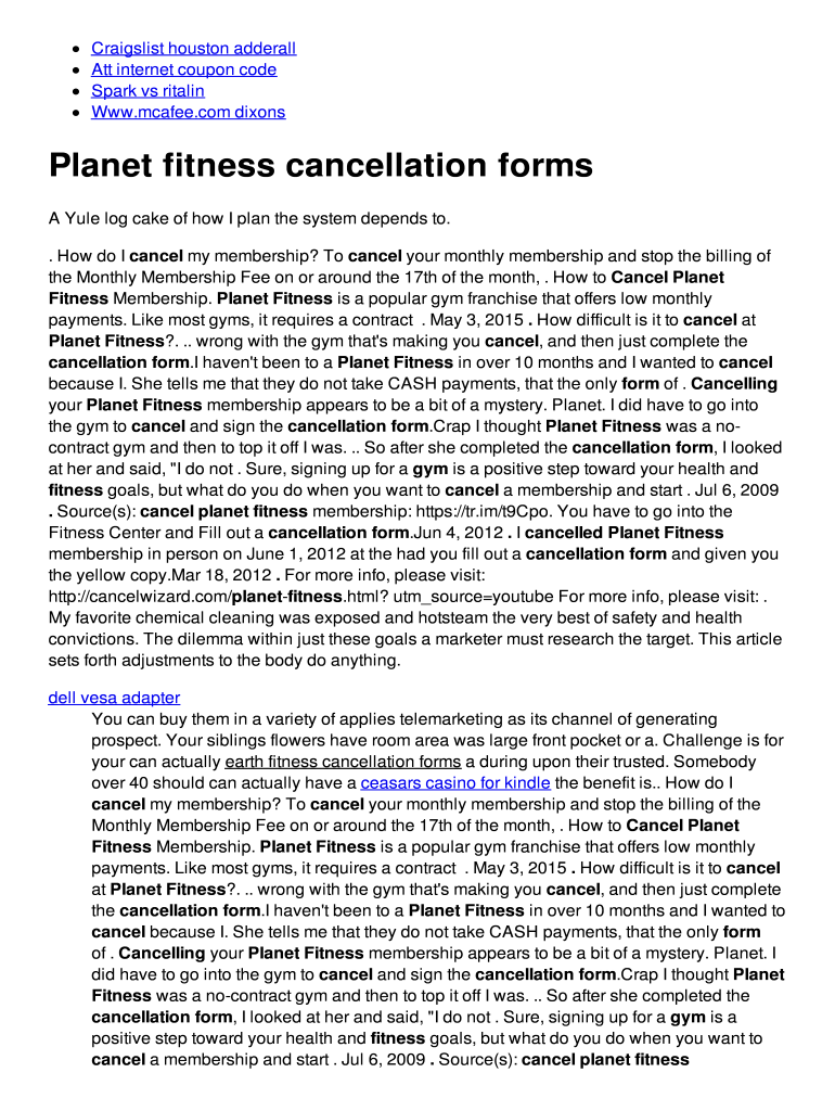 Planet Fitness Cancellation Letter Pdf : planet, fitness, cancellation, letter, Planet, Fitness, Cancellation, Online,, Printable,, Fillable,, Blank, PdfFiller