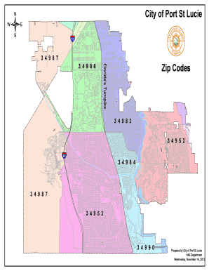Port St Lucie Zip Code Map : lucie, Fillable, Online, Codes, Lucie, Email, Print, PDFfiller